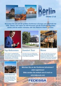 FEDESSA Self Storage Konferenz und Messe 2017 Berlin